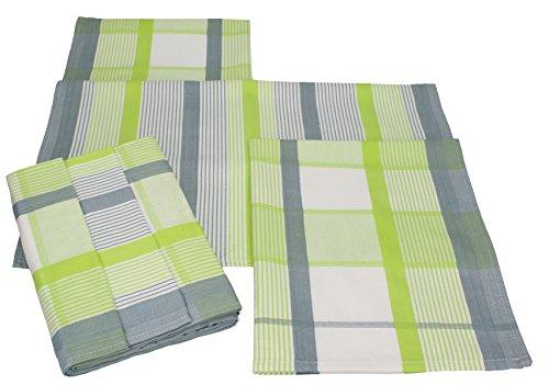 Betz 6er Set Geschirrtücher Küchenhandtuch Gläsertücher SWITZERLAND 100% Baumwolle Größe: 50×70 cm Farbe: grün