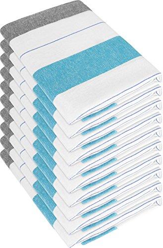 10 x Geschirrtücher in Gastronomiequalität/ unterschiedliche Muster/ farbig Leinen Baumwolle Rot-Blau-Weiß Farbe New/Blue Größe 55 x 75 cm