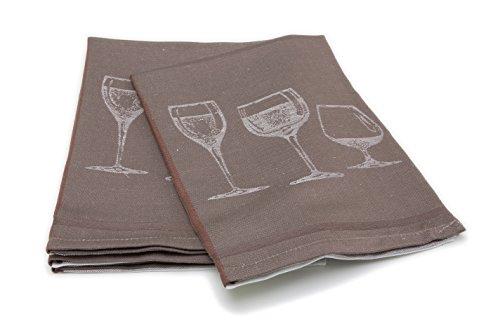 ZOLLNER® 4er-Set Geschirrtücher 50×70 cm grau, in weiteren Farben erhältlich,in Gastronomiequalität, Serie