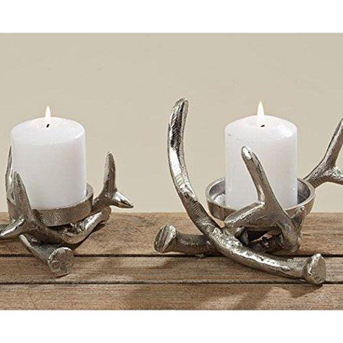 Kerzenleuchter S/2 D13-17cm Innengrösse D6/8cm